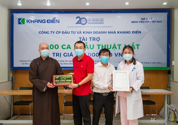 Khang Điền tài trợ chương trình phẫu thuật mắt cho 1.000 bệnh nhân - Ảnh 2.