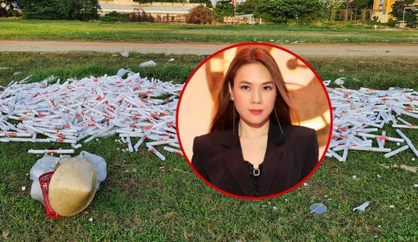 Sân Phú Thọ ngập rác sau 1 tuần do Mỹ Tâm tiếc tiền thuê dọn dẹp? - Ảnh 1.