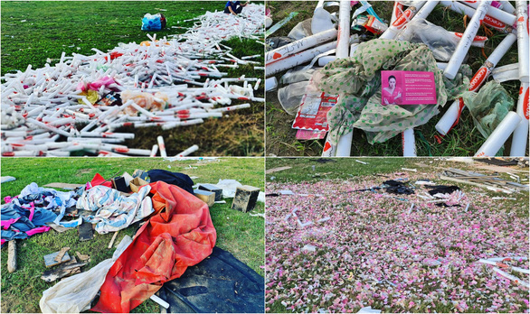 Sân Phú Thọ ngập rác sau 1 tuần do Mỹ Tâm tiếc tiền thuê dọn dẹp? - Ảnh 2.