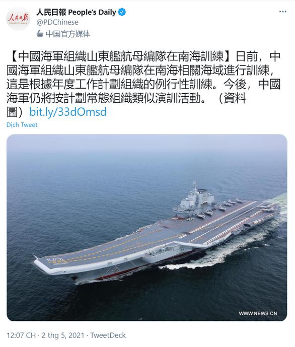 Trung Quốc đưa tàu sân bay thứ hai xuống Biển Đông - Ảnh 2.