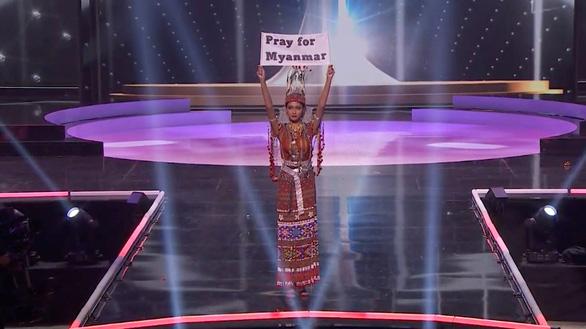 Hoa hậu Myanmar dự thi Miss Universe bác tin bị truy nã, nói chưa dám trở về - Ảnh 3.