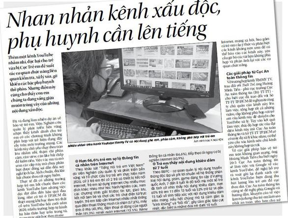 Dùng biện pháp kỹ thuật bảo vệ con trẻ khỏi các kênh độc hại từ Internet - Ảnh 1.