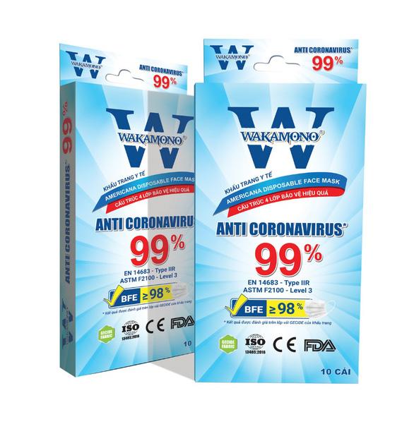 Khẩu trang Wakamono ngăn chặn tối đa khả năng lây nhiễm virus corona - Ảnh 1.