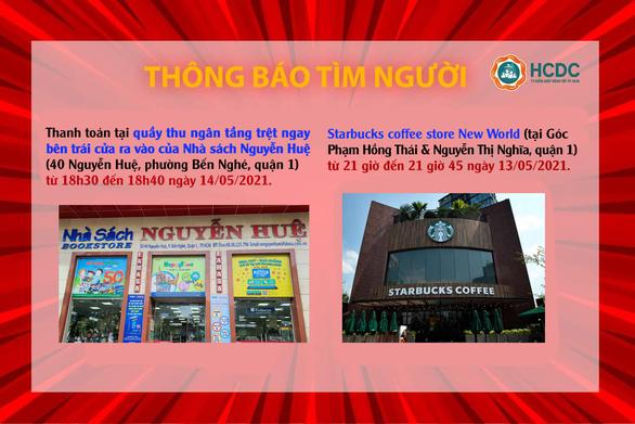 KHẨN: TP.HCM tìm người đến Nhà sách Nguyễn Huệ và Starbucks quận 1 - Ảnh 1.
