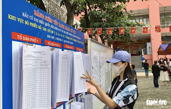 Hoa hậu Tiểu Vy, á hậu Diễm Trang, hoa khôi Thúy Vi háo hức đi bầu cử - Ảnh 3.