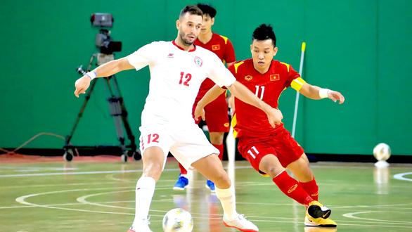 Hòa futsal Lebanon 0-0, Việt Nam có chút lợi thế trước trận lượt về - Ảnh 1.