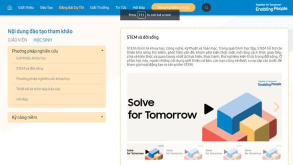 Kho kiến thức hữu ích cho thời đại 4.0 từ cuộc thi Solve for Tomorrow - Ảnh 2.