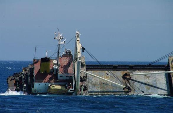 Tàu vận tải Triều Tiên chìm ngoài khơi Nhật Bản - Ảnh 1.
