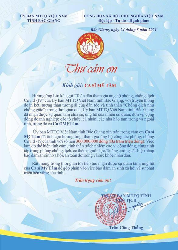 Mỹ Tâm không nói nhiều, góp 300 triệu giúp Bắc Giang, Miss Earth Việt Nam trực tuyến - Ảnh 2.