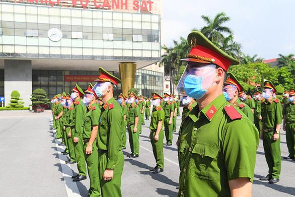 Bộ Công an chi viện 400 chiến sĩ, học viên cho Bắc Ninh phòng chống dịch COVID-19 - Ảnh 2.