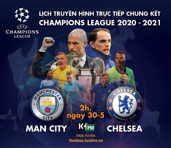 Lịch trực tiếp chung kết Champions League: Manchester City - Chelsea - Ảnh 1.