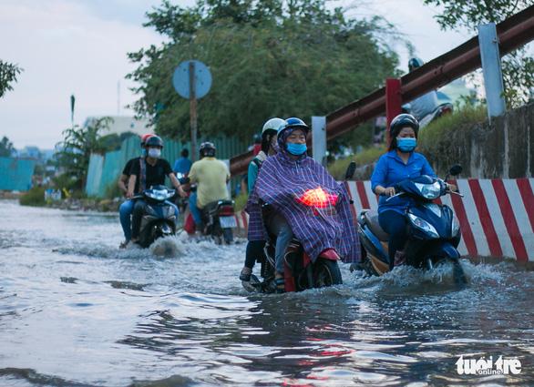 Không mưa, triều cường không lớn nhưng Mễ Cốc ở quận 8 vẫn ngập lênh láng - Ảnh 2.