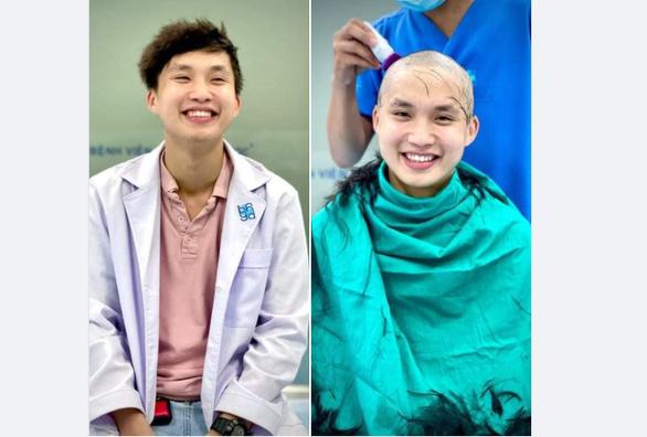 Bác sĩ trẻ cạo đầu trước khi vào tâm dịch: Có tóc hay không thì nụ cười vẫn tỏa nắng - Ảnh 1.