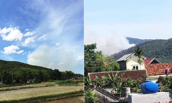 Cả trăm người đang dập lửa cứu rừng thông cháy trong nắng nóng - Ảnh 1.