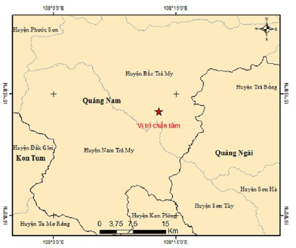 Quảng Nam xảy ra hai trận động đất liên tiếp ở miền núi - Ảnh 1.