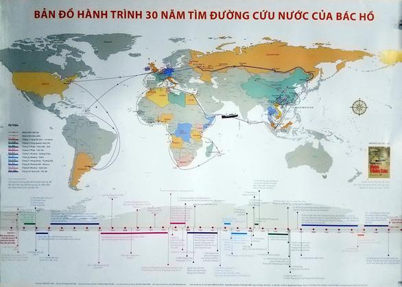 Phát hành bản đồ hành trình 30 năm tìm đường cứu nước của Bác Hồ - Ảnh 1.