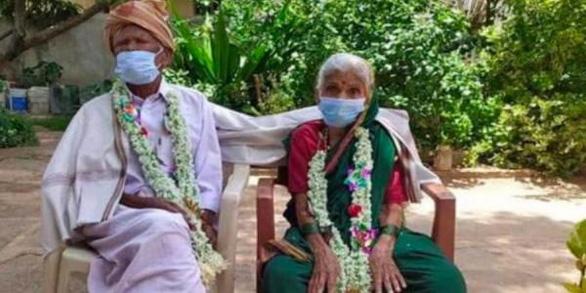 Cặp vợ chồng Ấn Độ hơn 100 tuổi chiến thắng COVID-19 - Ảnh 1.