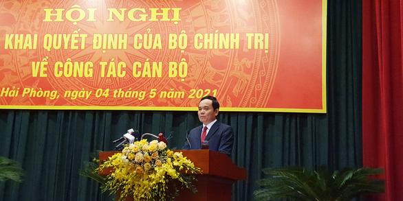 Ông Trần Lưu Quang làm Bí thư Thành ủy Hải Phòng - Ảnh 2.