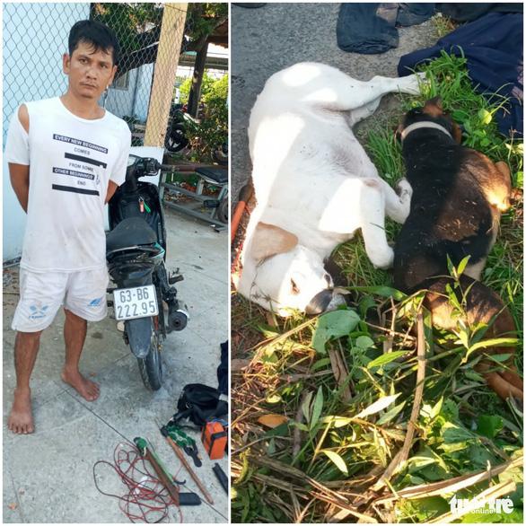 Bắt nghi phạm chuyên dùng súng điện bắn trộm chó của người dân - Ảnh 1.