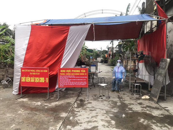 Hải Dương phong tỏa một khu dân cư tại huyện Tứ Kỳ - Ảnh 1.