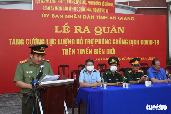 40 chiến sĩ công an An Giang viết đơn tình nguyện tham gia chống dịch COVID-19 - Ảnh 1.