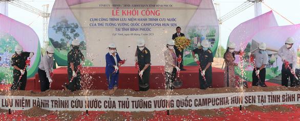 Bình Phước khởi công cụm công trình lưu niệm hành trình cứu nước của Thủ tướng Hun Sen - Ảnh 1.