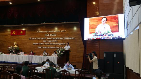 TP.HCM: 3 buổi vận động bầu cử đại biểu Quốc hội trực tiếp gộp vào một buổi trực tuyến - Ảnh 1.