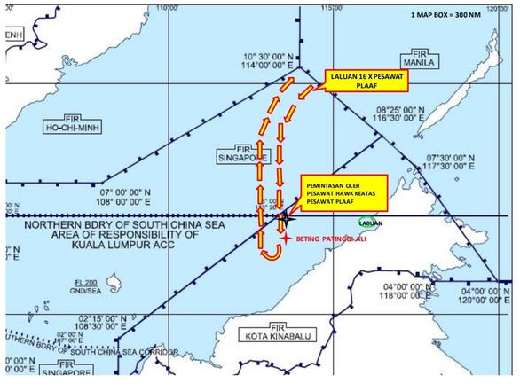 Chiến đấu cơ Malaysia bay lên ngăn chặn 16 máy bay Trung Quốc đe dọa - Ảnh 2.