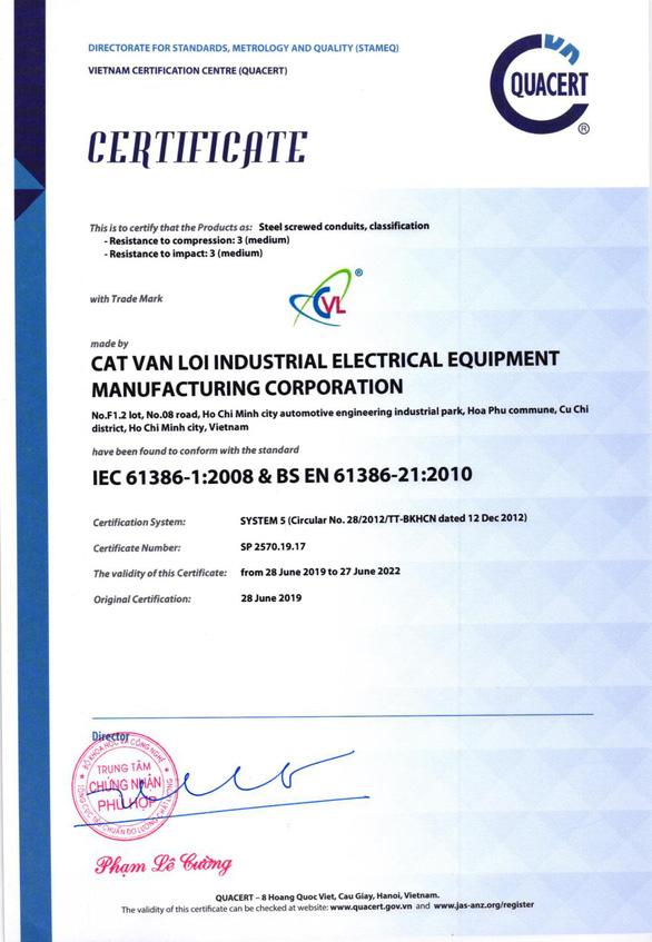 Ống luồn dây điện CVL - 14 năm tạo dựng thương hiệu và chất lượng - Ảnh 3.