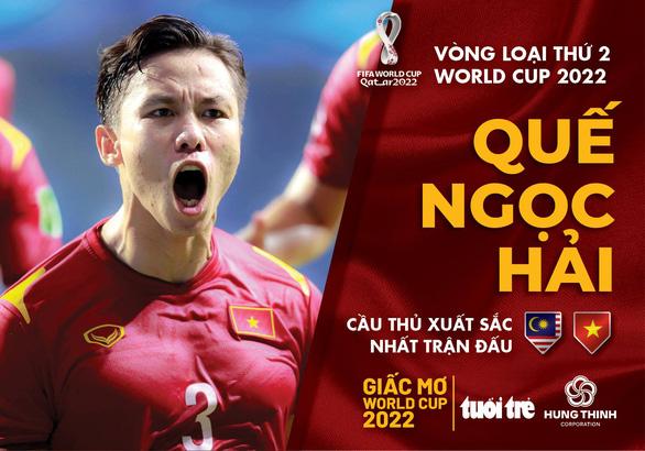Quế Ngọc Hải xuất sắc nhất trận thắng Malaysia - Ảnh 1.
