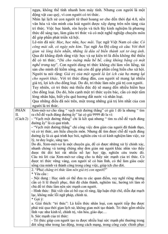 Gợi ý giải đề môn văn thi tuyển sinh lớp 10 Hà Nội - Ảnh 5.