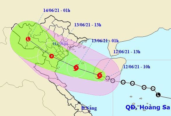 Bão  số 2 hướng vào các tỉnh nam đồng bằng Bắc Bộ và Thanh Hóa - Ảnh 1.