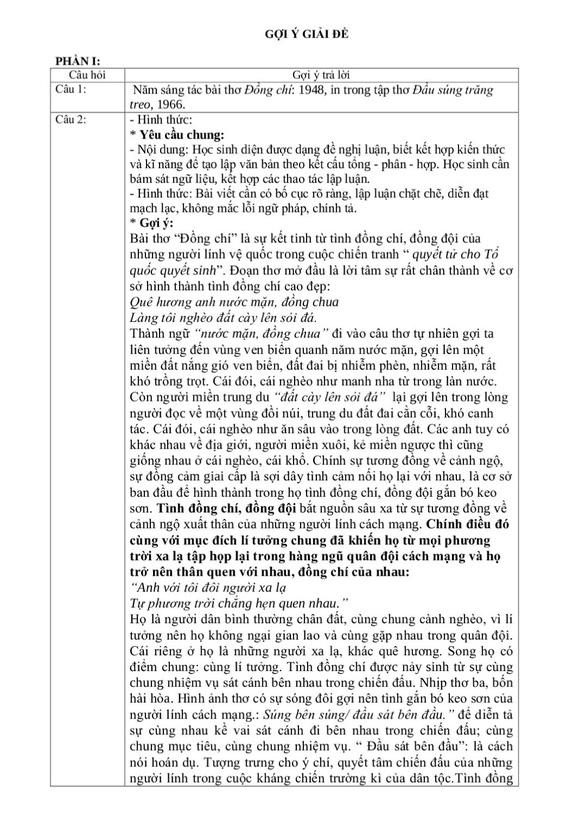 Gợi ý giải đề môn văn thi tuyển sinh lớp 10 Hà Nội - Ảnh 3.