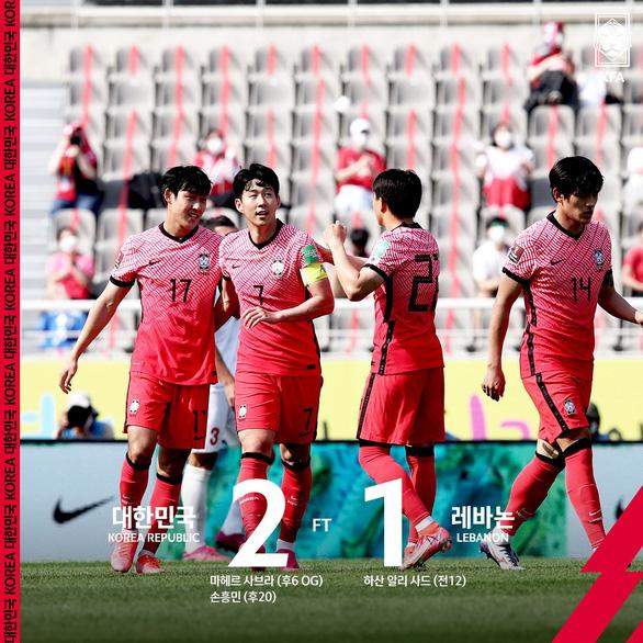 Hàn Quốc thắng Lebanon, cửa đi tiếp của tuyển Việt Nam đã rộng mở - Ảnh 1.
