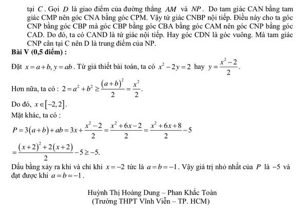 Gợi ý giải đề môn toán thi vào lớp 10 Hà Nội - Ảnh 3.