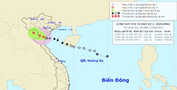 Bão số 2 đổ bộ Thái Bình - bắc Nghệ An, suy yếu thành áp thấp nhiệt đới - Ảnh 1.