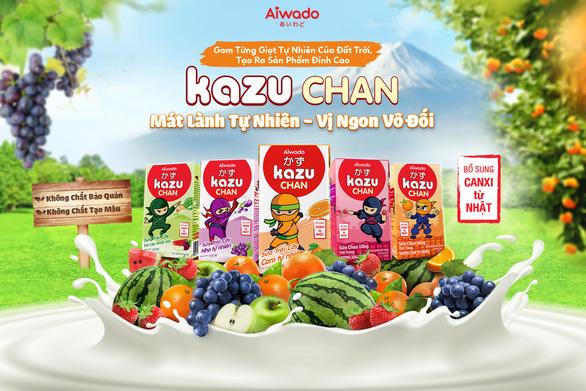 Aiwado ra mắt sữa trái cây và sữa chua uống Kazu Chan - Ảnh 1.