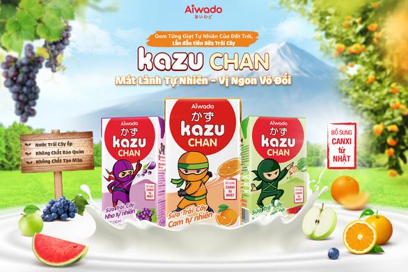 Aiwado ra mắt sữa trái cây và sữa chua uống Kazu Chan - Ảnh 2.