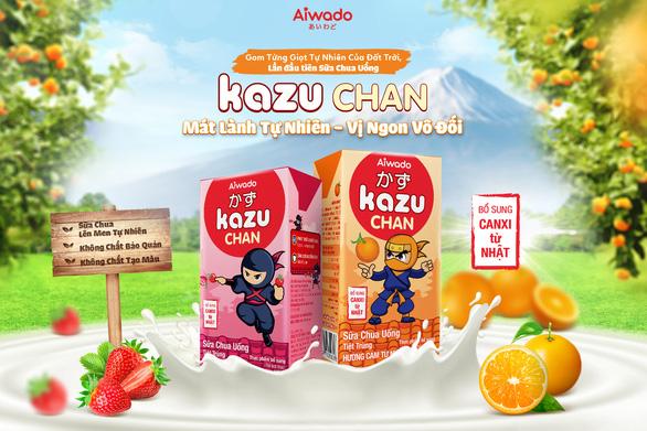 Aiwado ra mắt sữa trái cây và sữa chua uống Kazu Chan - Ảnh 3.