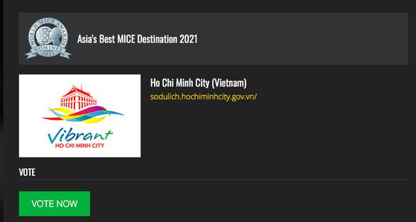 TP.HCM được đề cử Điểm đến du lịch MICE tốt nhất châu Á 2021 - Ảnh 2.