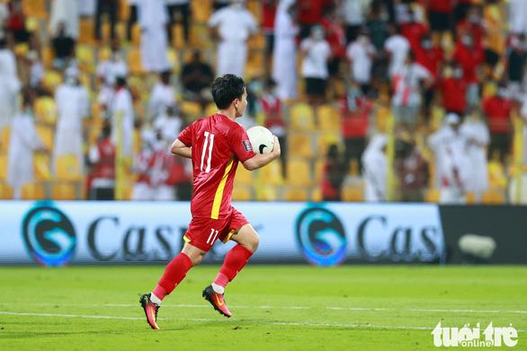 10 bạn đọc đoạt giải dự đoán Cầu thủ xuất sắc nhất trận Việt Nam - UAE - Ảnh 1.