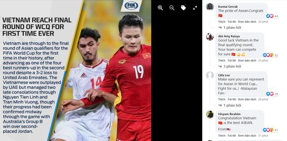 Dù thua UAE, Việt Nam vẫn được CĐV gọi là Niềm tự hào của Đông Nam Á - Ảnh 1.