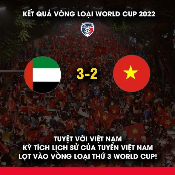 Cộng đồng mạng hào hứng chúc mừng tuyển Việt Nam lên thuyền đi tiếp vòng loại thứ 3 World Cup - Ảnh 3.
