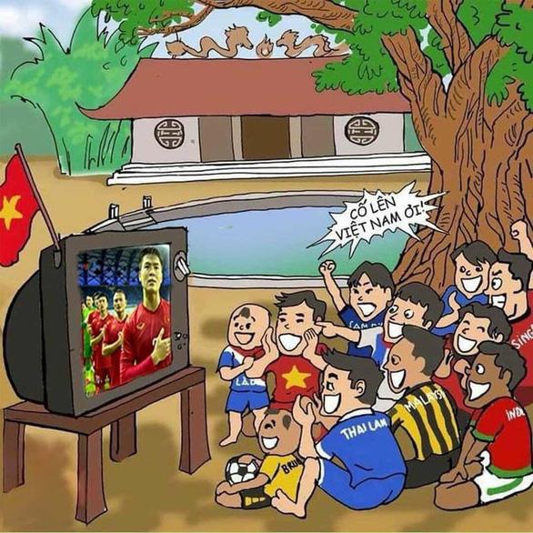 Cộng đồng mạng hào hứng chúc mừng tuyển Việt Nam lên thuyền đi tiếp vòng loại thứ 3 World Cup - Ảnh 2.
