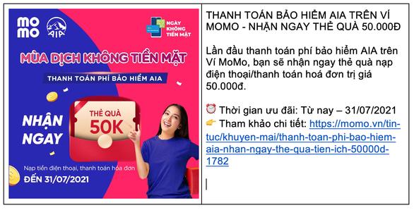Ví MoMo cho ra mắt dịch vụ mới, ưu đãi thiết thực hỗ trợ người dùng Việt trong mùa COVID - Ảnh 3.
