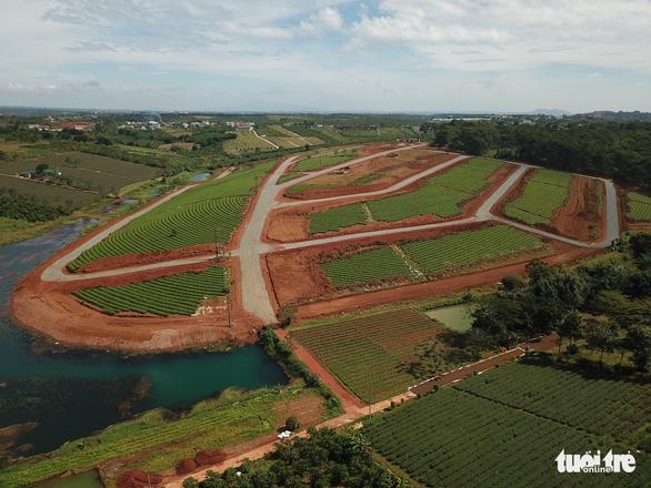 Tạm đình chỉ 3 cán bộ TP Bảo Lộc liên quan hiến đất mở đường rầm rộ - Ảnh 1.