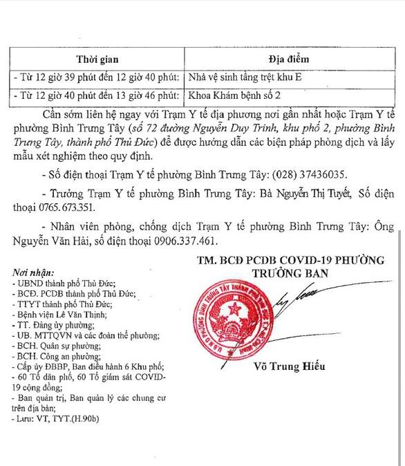 Tìm người đến Bệnh viện Lê Văn Thịnh và nhiều nơi ở Gò Vấp vì có ca COVID-19 - Ảnh 3.
