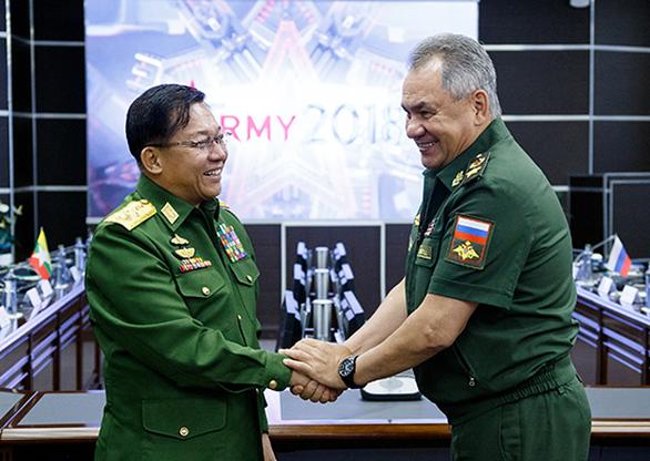 Tướng quân đội Myanmar đến Nga sau nghị quyết hạn chế vũ khí của LHQ - Ảnh 1.