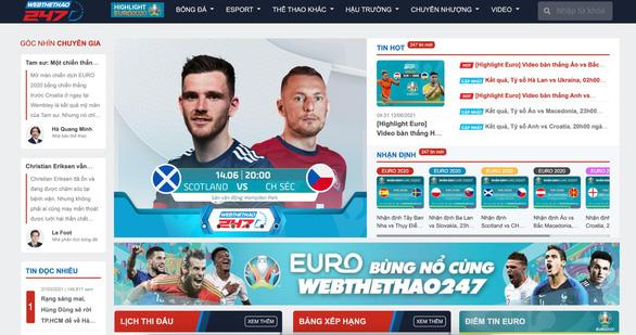 Webthethao247 sở hữu bản quyền EURO 2020 - Ảnh 2.