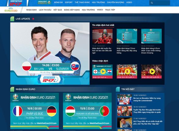 Webthethao247 sở hữu bản quyền EURO 2020 - Ảnh 3.